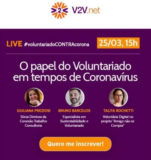 O papel do voluntário em tempos de coronavírus